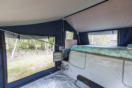 Johnnos Camper Trailer Bed