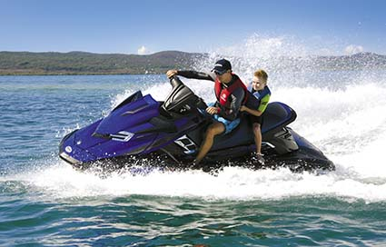 YAMAHA FX SVHO WAVERUNNER TURNING