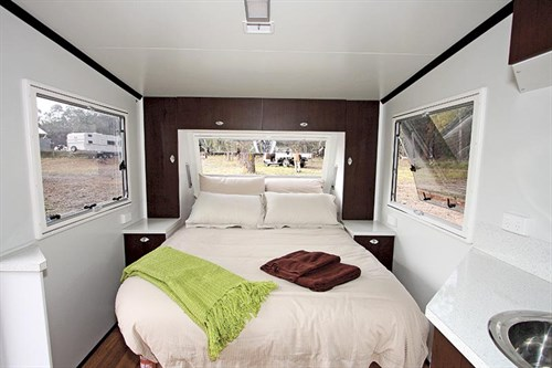Jet Stealth Caravan Bedroom