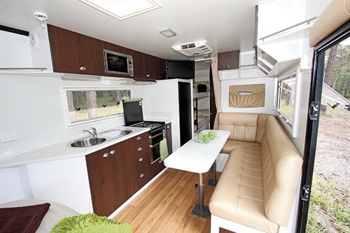 Jet Stealth Caravan Kitchen