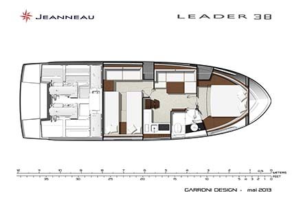 JEANNEAU LEADER 38 LAYOUT