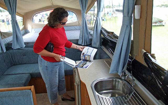 Woman At Caravan Show