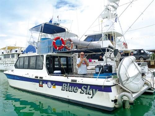 Crazy Charles aboard Blue Sky