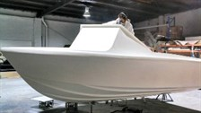 Unpainted Haines V19 hull