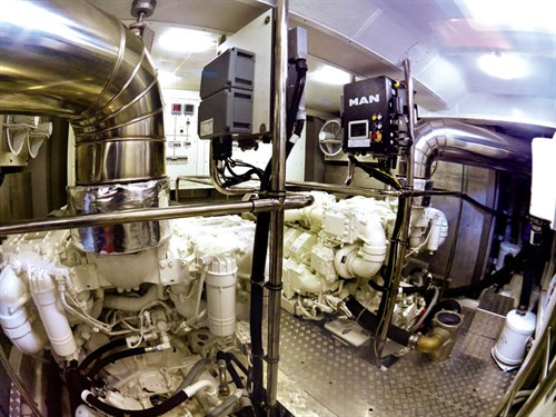 Prestige 750 engine room