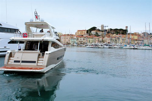 Prestige 750 at Cannes harbour