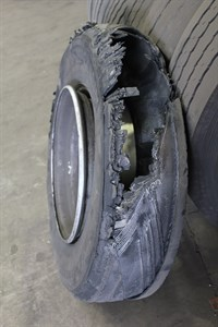 Truck tyre inflation neglect
