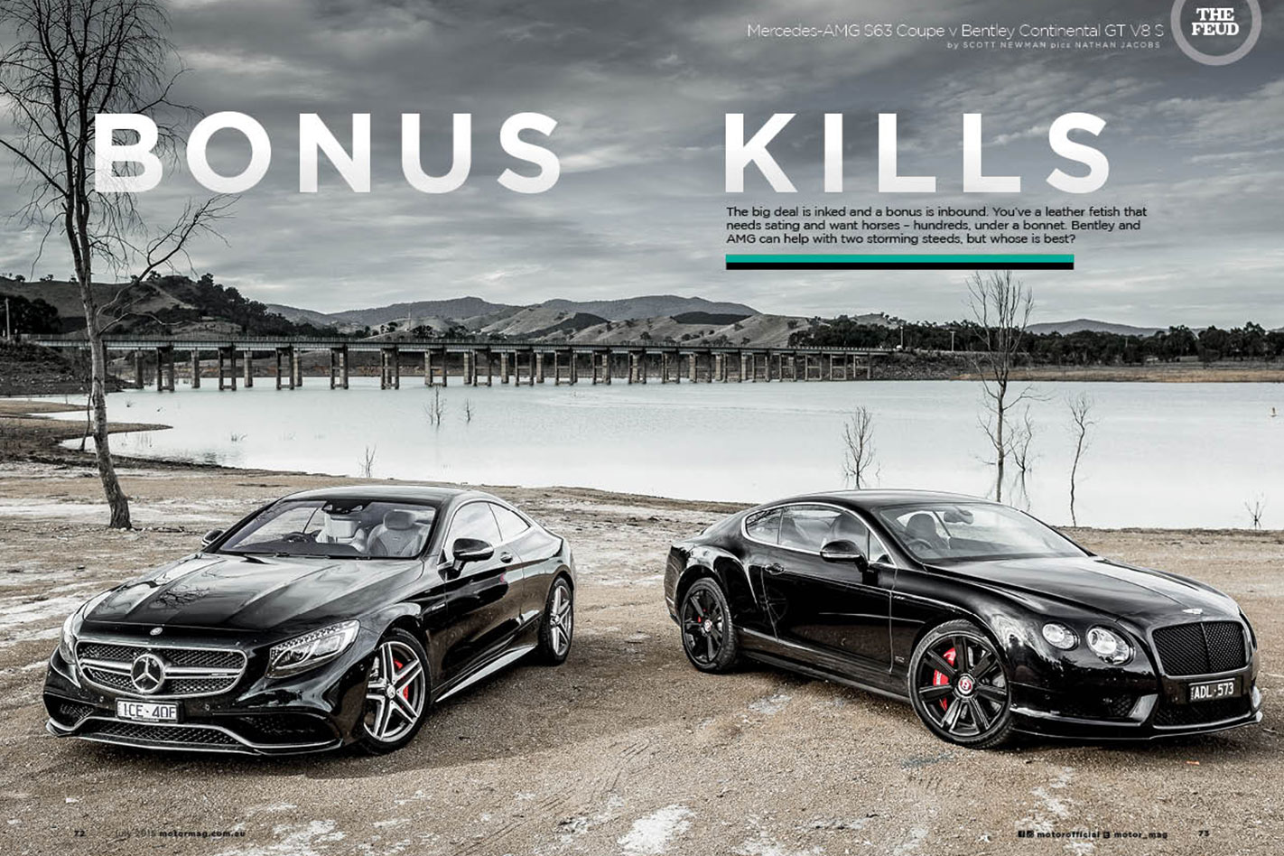 Mercedes-AMG S63 Coupe or Bentley Continental GT V8 S