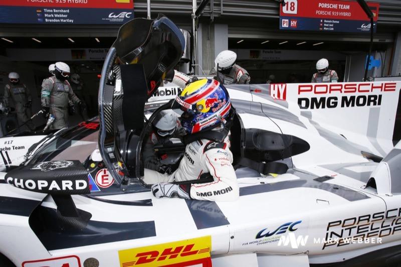 Mark Webber Le Mans Porsche