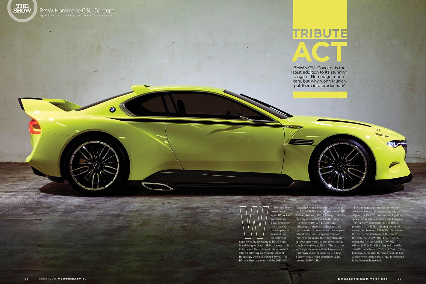 BMW Hommage CSL