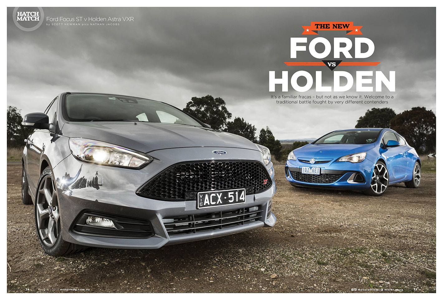 Ford Focus ST and Holden Astra VXR