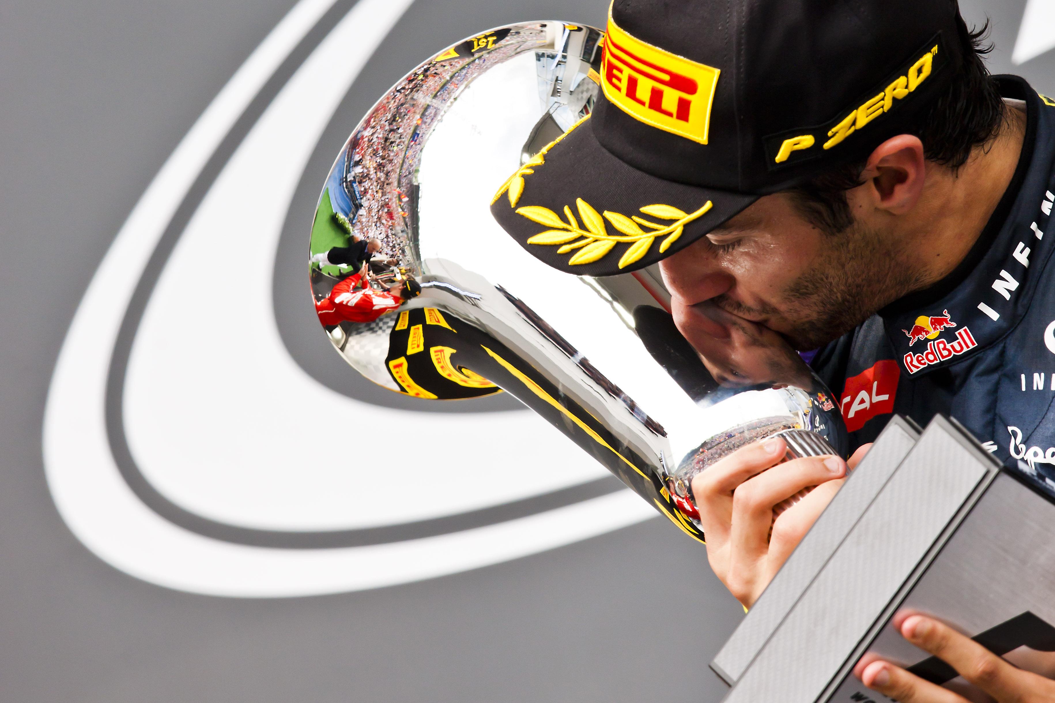 Ricciardo Podium Hungary 2014