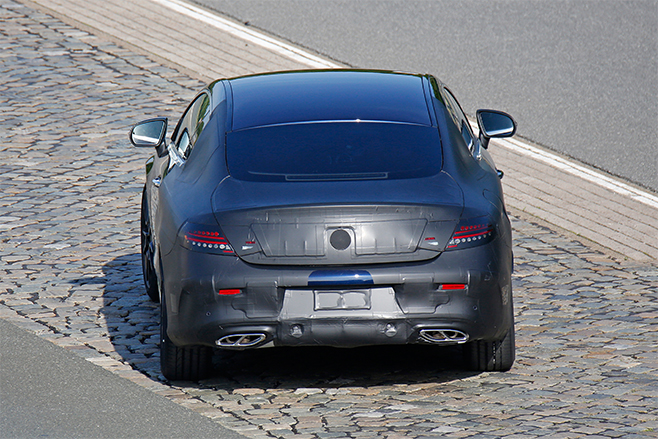 2015-Mercedes -C-Class -Coupe -Spy -rear -32