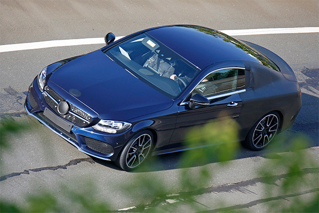 2015-Mercerdes -C-Class -Coupe -Spy -top -rolling -322