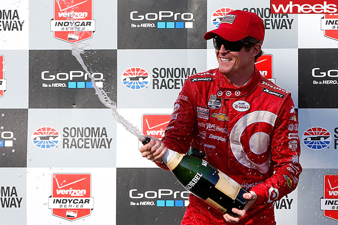 Indycar -racer -Scott -Dixon -wins -GP