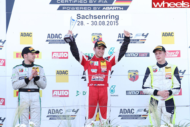 Australian -Joey _Mawson -celebrates -German -F4-win -at -Sachsenring