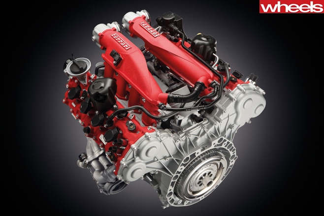 Ferrari -488-GTB-V8-Engine-
