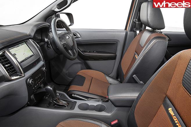 Ford -Ranger -Wildtrak -interior