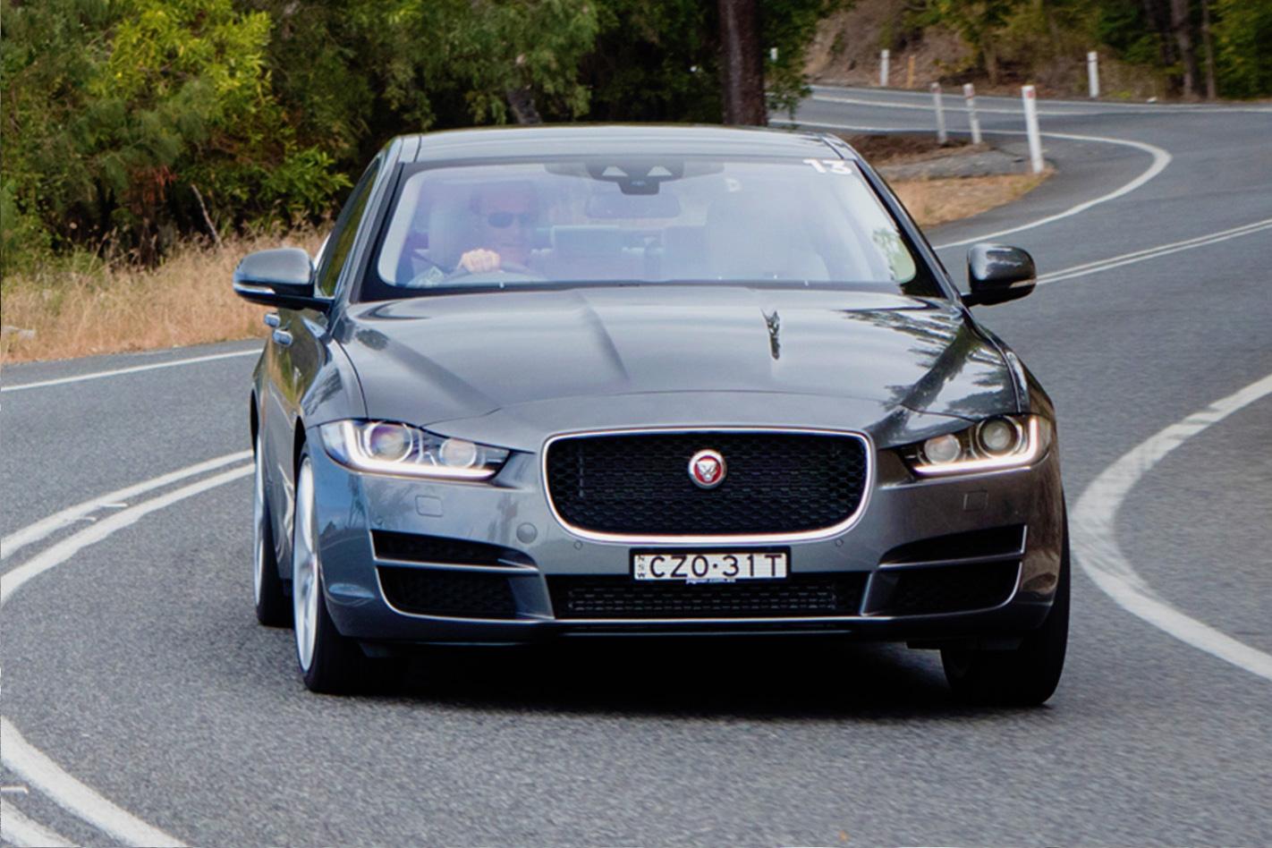 Jaguar -xe -front -driving