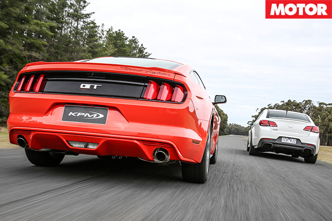 Mustang vs Commodore Rear