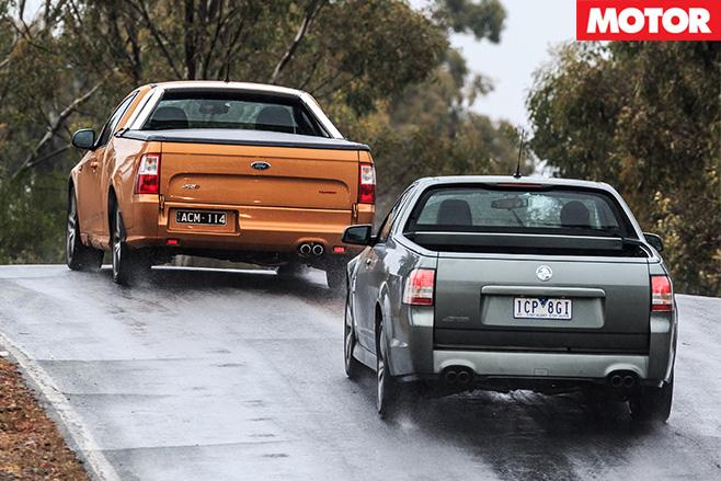 Ford XR6T Ute v Holden SS Ute 1