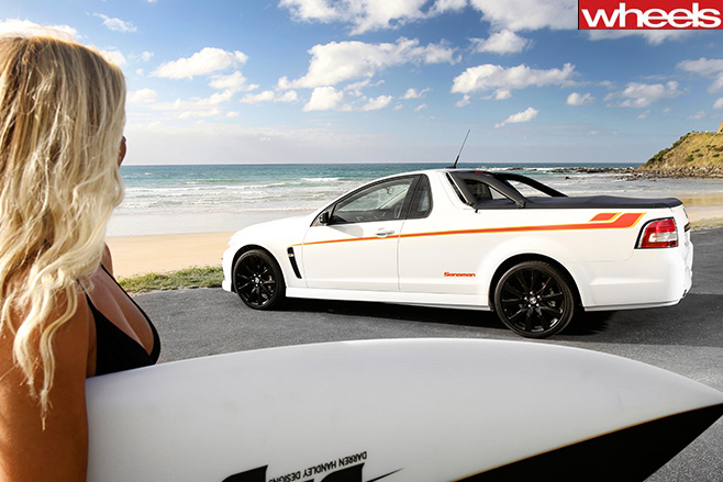 Holden -Club Sport -R8-at -beach-