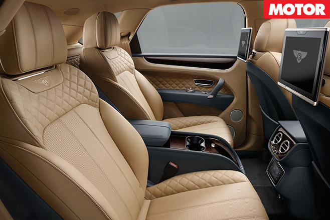 Bentley bentayga backseat