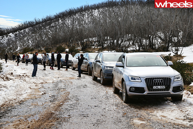 Audi -Q7-cars -lined -up -Mt -Hotham