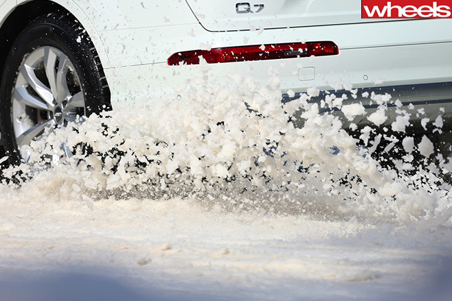 Audi -Q7-Snow -Drift