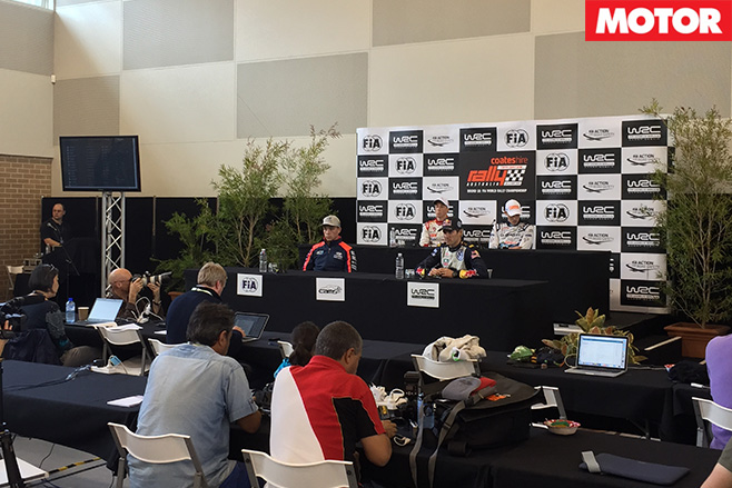 WRC rally australia press conference