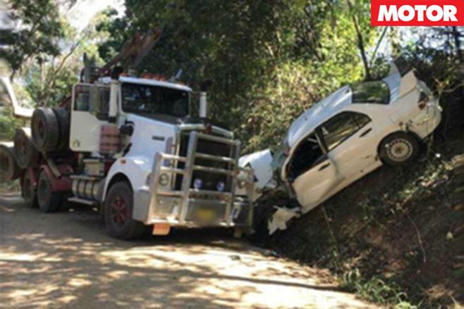 WRC rally australia crash