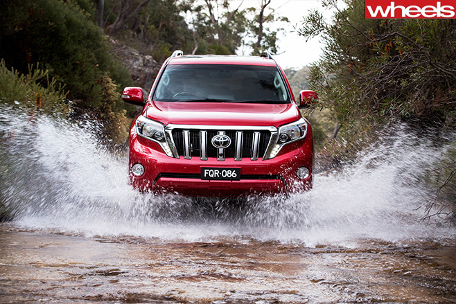 Toyota -prado -driving -through -water