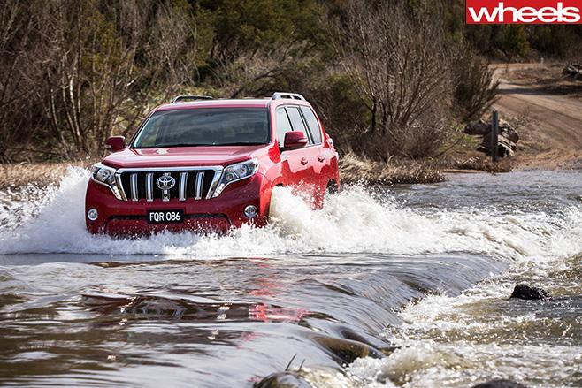 Toyota -prado -review -wading