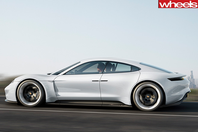 Porsche -Mission -E-side