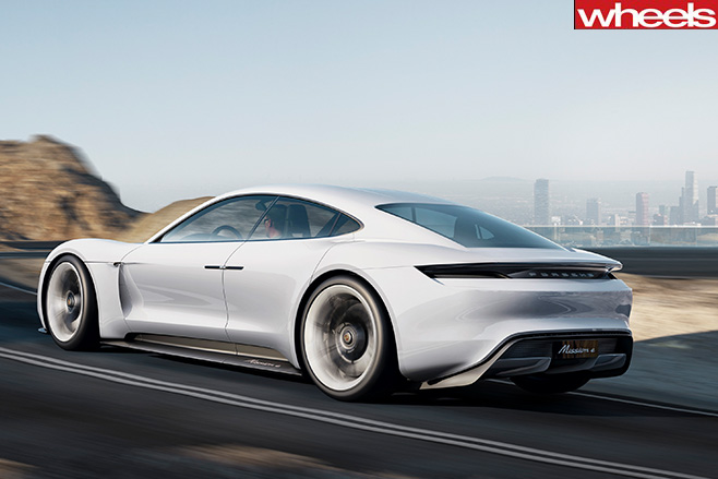 Porsche -Mission -E-side -rear