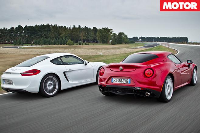 Alfa 4C vs Porsche Cayman 1