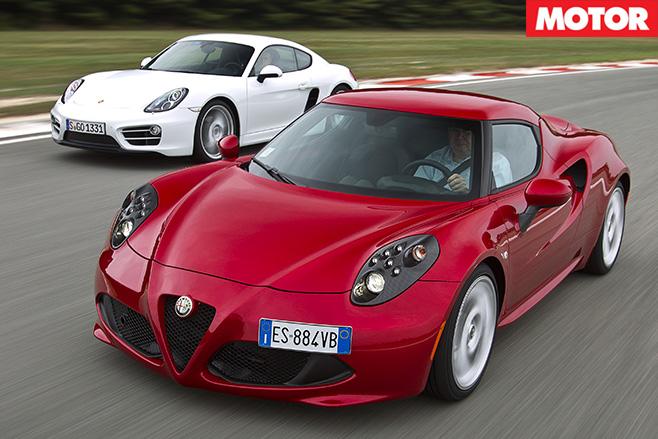 Alfa 4C vs Porsche Cayman 2