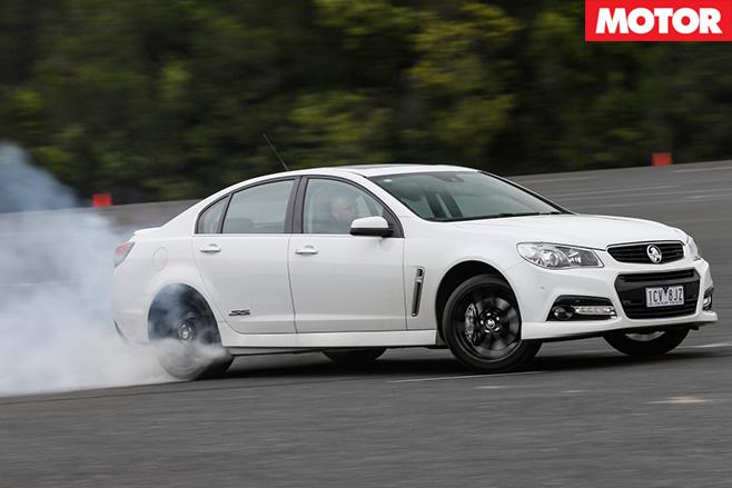 Holden VF II SS burnout