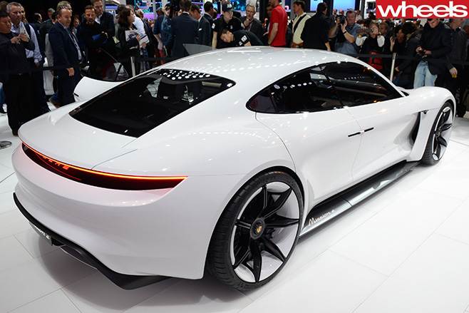 Porsche -Mission -E-Concept -Car -rear -motor -show