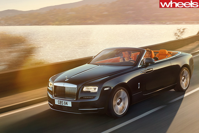 Rolls -Royce -Dawn -roof -down-