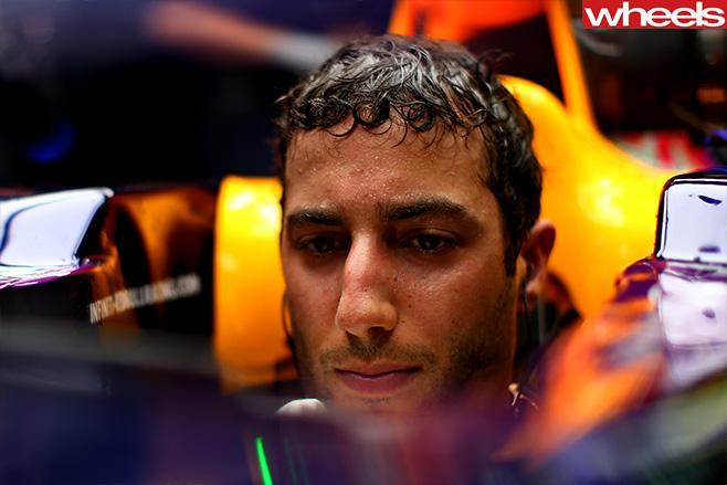 Daniel -Ricciardo -sitting -in -F1-car