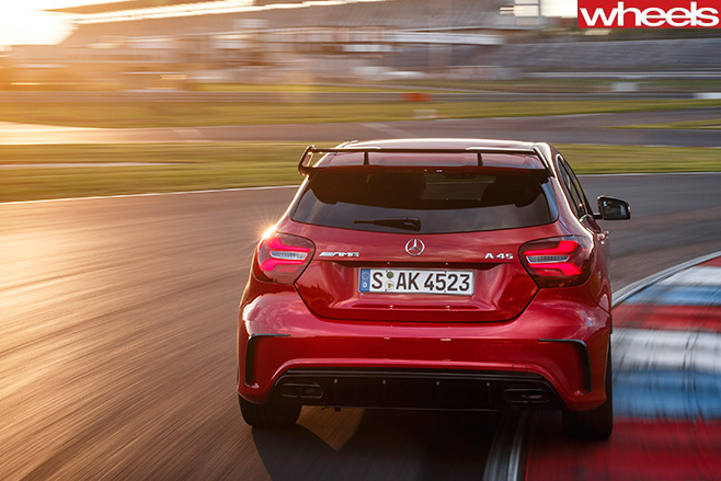 Mercedes -AMG-A45-racetrack -rear