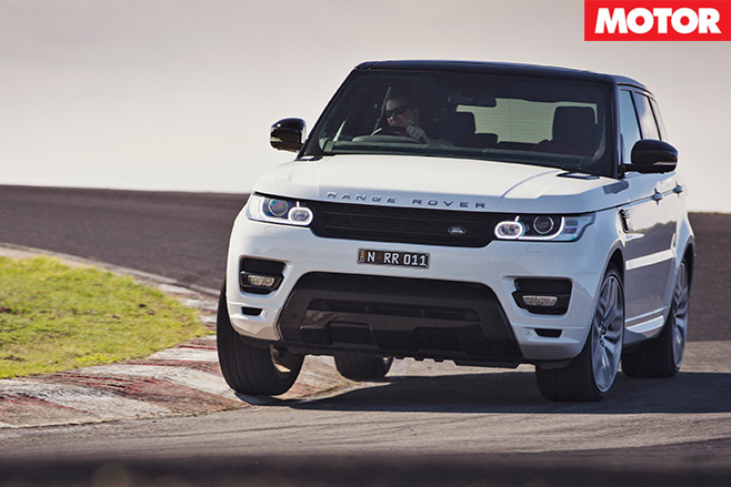 Range rover sport turning