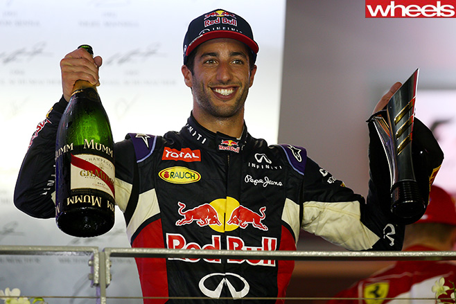 Daniel -Ricciardo -celebrating -after -Singapore -GP