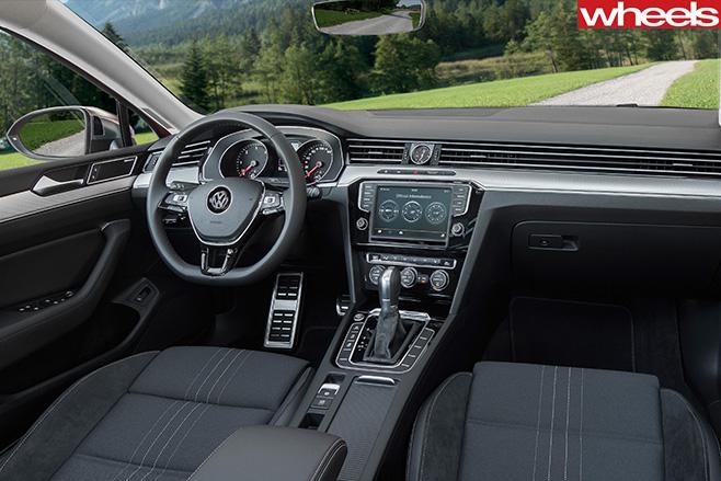 Red -Volkswagen -Passat -Alltrack -interior-