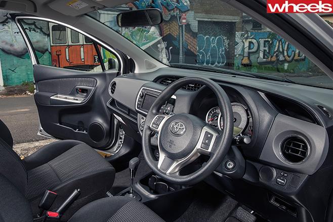 Toyota -yaris -interior