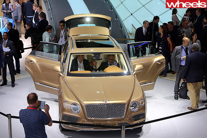 Bentley -car -frankfurt