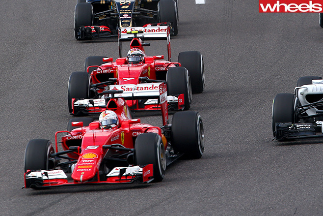 Ferraris -at -start -of -F1-race