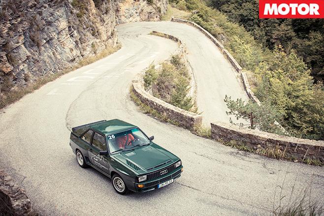 Audi sport quattro 1984 aerial