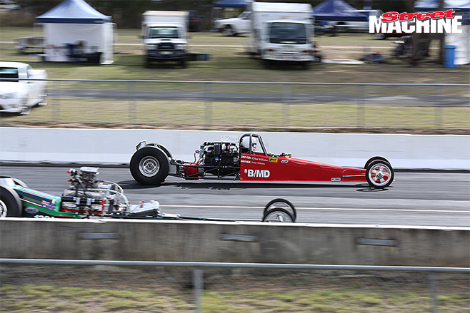 Six -banger -nats -Dixie -turbo -dragster